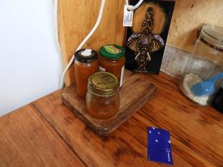 Mango chutney (one jar half eaten on the first day)