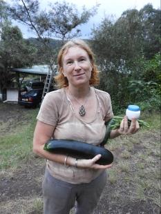 A big zucchini