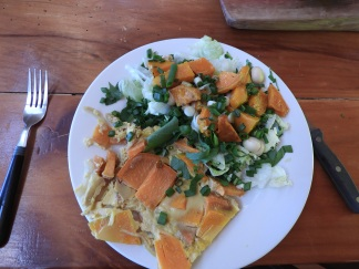 Left over gratin with roast pumpkin salad #fresh #healthy #delicious