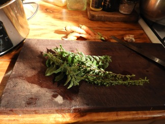 Sprigs of oregano and thyme #healthyfood