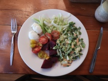 lunch- coleslaw with homemade aioli